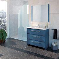 AXEL 80 Bleu, 3 Tiroirs