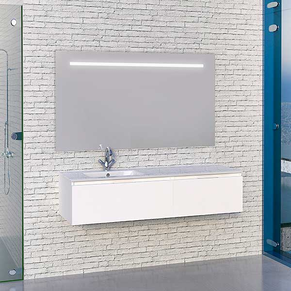 berlin 140 blanc mat 2 tiroirs alday meubles de bain. Black Bedroom Furniture Sets. Home Design Ideas